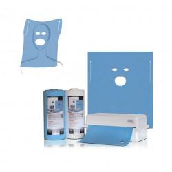 Салфетки стоматологические с прорезью для рта и глаз, 60х54см, 40 шт., Thienel Dental
